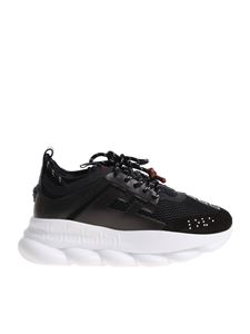 Versace - Black sneakers with maxi white sole
