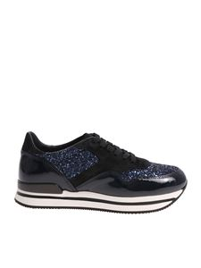 Hogan - Glittered H222 blue sneakers