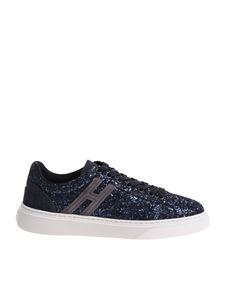 Hogan - H365 blue sneakers with rhinestones