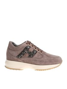 Hogan - Interactive taupe colored sneakers