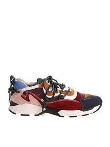 Carven - Multicolor sneakers with blue tip