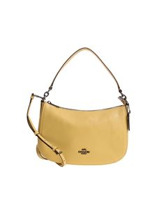 Coach - Yellow hammered leather bag