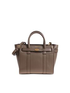 Mulberry - Mud color zipped Bayswater mini bag