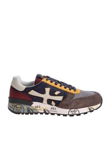 Premiata - Blue red and taupe Mick sneakers