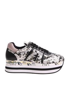 Premiata - Black and pink Beth sneakers with sequins