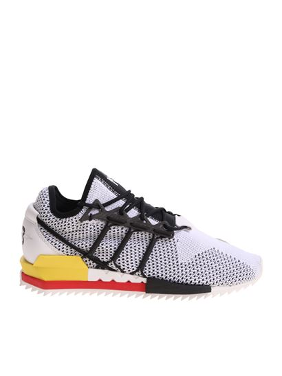 731eec1ccda17 Y-3 Yohji Yamamoto - White Harigane sneakers with red and yellow details