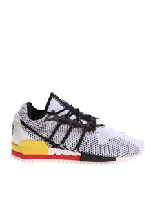 Y-3 Yohji Yamamoto - White Harigane sneakers with red and yellow details