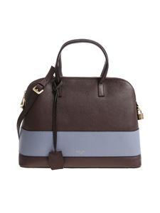 Avenue 67 - Brown and light blue The Avenue bag