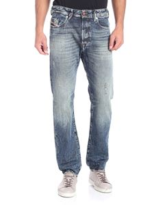 Diesel - Buster blue jeans with worn effect