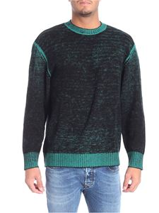 Diesel - Black pullover with green delavé effect