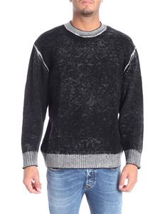 Diesel - Black pullover with grey delavè effect