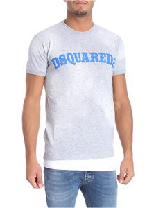 Dsquared2 - Grey effect worn-our t-shirt