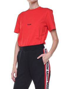 MSGM - Red crew neck t-shirt with logo