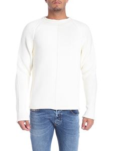 Brian Dales - Raglan sleeve cream-colored pullover