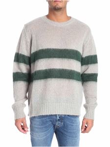 Golden Goose Deluxe Brand - Gray striped pullover