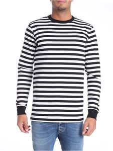 Golden Goose Deluxe Brand - Striped white and black t-shirt