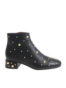 See by Chloé - Abby black ankle boots with golden studs
