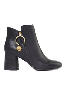 See by Chloé - Howl black ankle boots