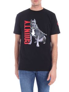 "Marcelo Burlon - ""Dogo"" black t-shirt with multicolor print"