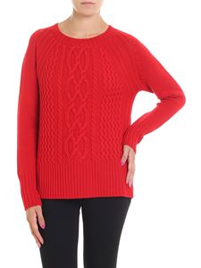 Woolrich - Red cable knitted pullover
