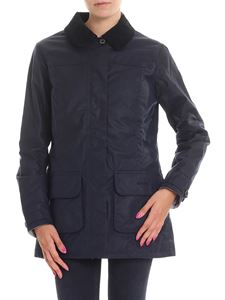 Barbour - Blue padded coat