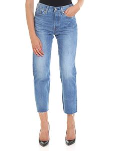Levi's - Wedgie Straight light-blue jeans