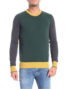 Woolrich - Yellow green and grey crew-neck pullover
