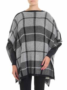 Woolrich - Gray and black check poncho