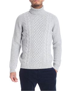 Drumohr - Tricot light gray melange turtleneck