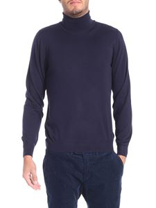 Fedeli - Dark blue wool turtleneck sweater