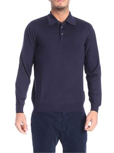 Fedeli - Dark blue wool polo