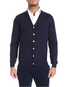 Fedeli - Dark blue wool cardigan