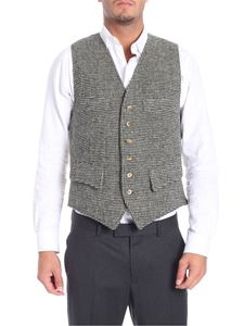 Fortela - Green black and beige knitted vest
