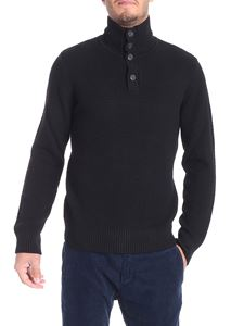 Paolo Pecora - Black knitted high collar pullover