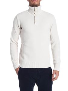 Paolo Pecora - Ivory color high collar pullover