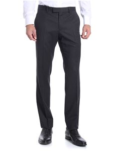 Z Zegna - Dark grey melange trousers