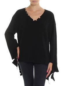 Federica Tosi - Black worn-out effect pullover