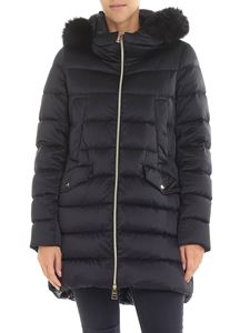 Herno - Black quilted hooded down jacket