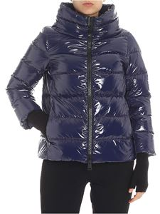 Herno - Blue cowl neck down jacket