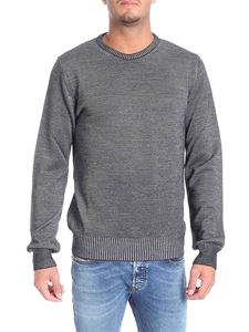 Trussardi Jeans - Grey and black ribbed pullover