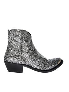 Golden Goose Deluxe Brand - Young silver boots with glitter
