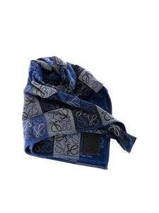 Loewe - Anagram scarf in shades of blue