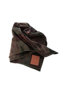 Loewe - Anagram scarf in shades of brown