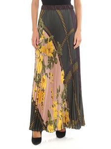 Parosh - Pleated skirt with floral print