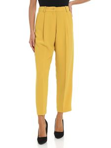 Parosh - Ocher color crop trousers