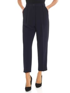 Parosh - Blue crop trousers