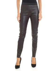 Parosh - Brown leather leggings