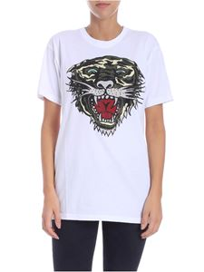 Parosh - White tiger printed t-shirt