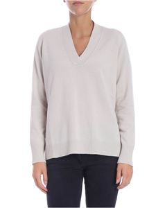 Le Tricot Perugia - Beige pullover with micro beads