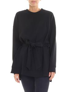 Parosh - Black overfit blouse with bow